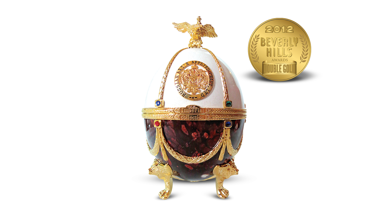 Carafe in Pearl & Ruby Faberge Egg Imperial Collection Super Premium Vodka