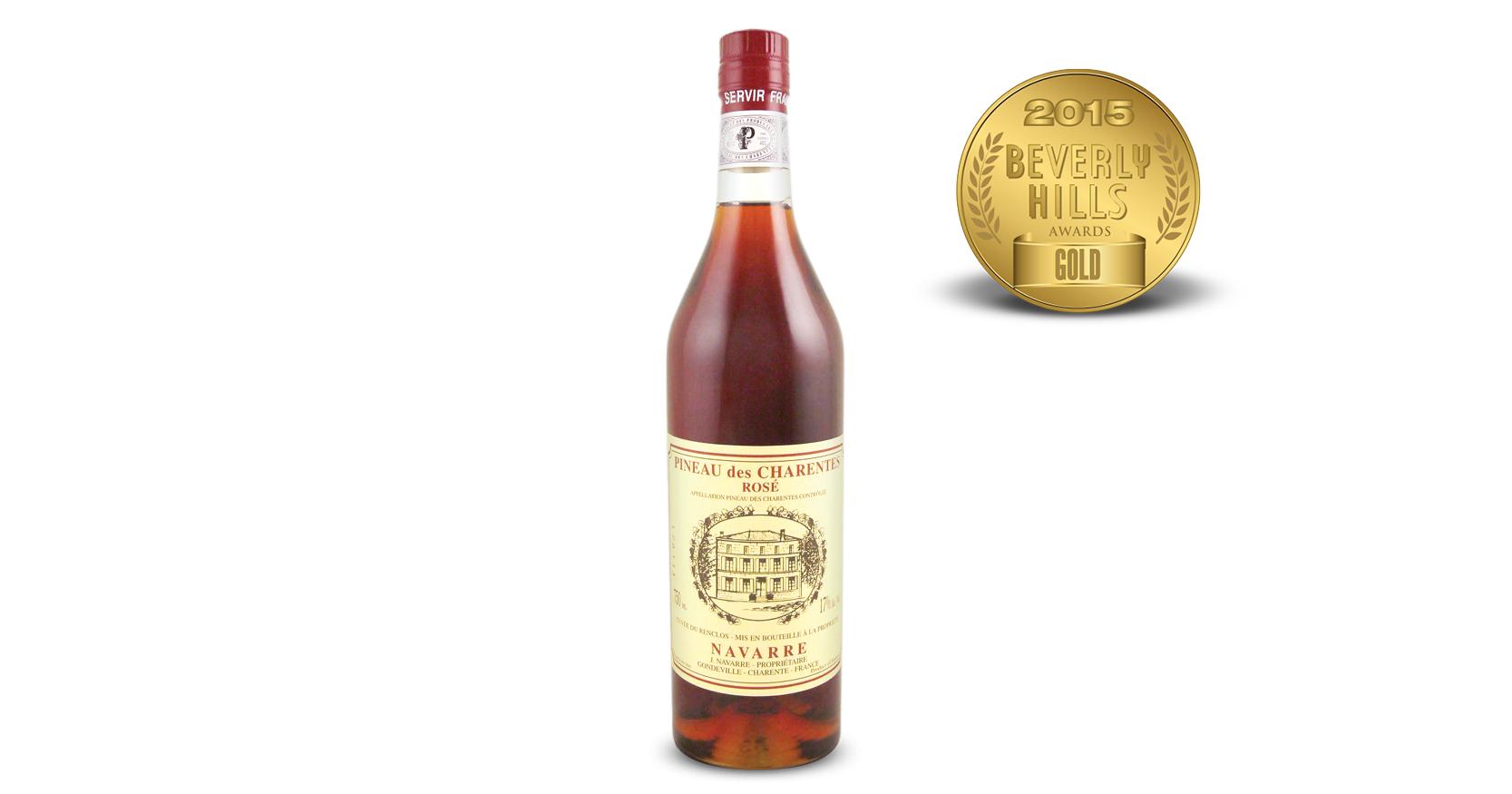Navarre Pineau des Charentes Rose Cuvee du Renclos
