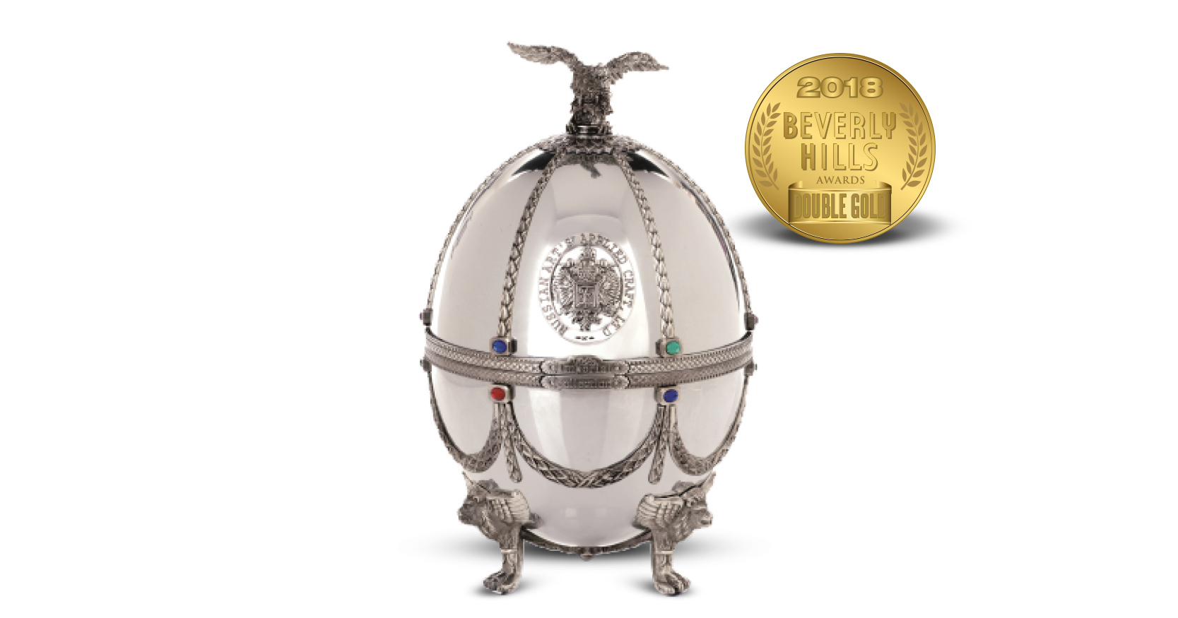 Carafe in Silver Faberge Egg Imperial Collection Super Premium Vodka
